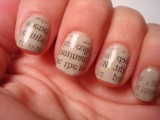 Newspaper & Comic Strip Manicure