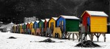 Weekly Photo Challenge: Geometry (MultiColoured Beach Huts ~ Muizenberg)
