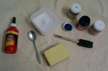 Craft Glue, Mosaic Tile Grout, Craft Paint, Paintbrush & Sponge