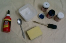 Craft Glue, Mosaic Tile Grout, Craft Paint, Paintbrush & Sponge