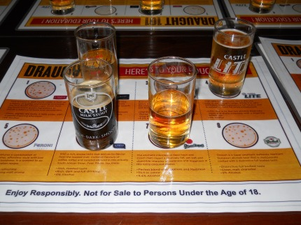 Beer tasting at SAB Newlands